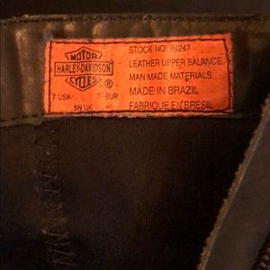 Harley-Davidson Shoes - Women's black leather boots.